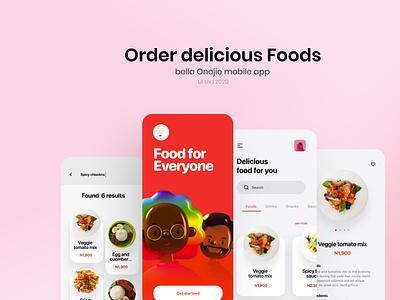 Bella Food app ui product design design illustration userinterface designthinking app design minimal webdesign 3d uidesign food food app