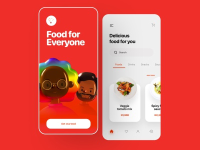 Food app design food app webdesign minimal product design clean ui design userinterface color designthinking app design uiux