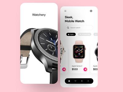 Watch Ecommerce app ui search clean ui colorful simple uiux branding google louis vuitton apple watch app pink userinterface designthinking app design cuberto watch