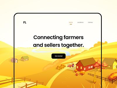 Farm website Ui clean ui userinterface ui app design uiux designthinking brand logo illustraion mobile web design product website famers