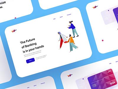 Banking website design website ux ui