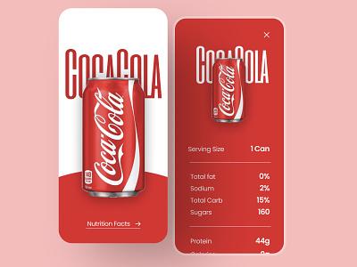 Soft drink app ui illustration splashscreen homepage uiux minimal userinterface cocacola coke logo app design designthinking red drink