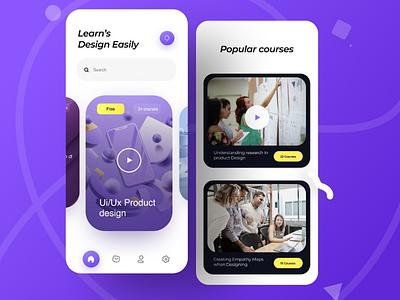 Tutorial ui ux design website app design product illustration icons learn purple color 3d tutorial