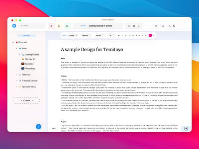 Mac Application productdesign website dribbble white userinterface big sur colorful writer uiux app design desktop application apple mac