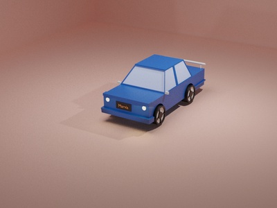 004 Day | 3d Car model trending abstract blue illustration design minimal threejs 3d artist 3d