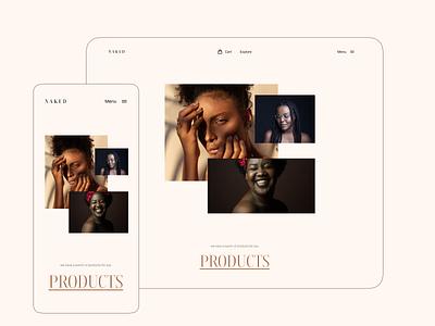 Skin care website funding skinwebsite skin pico cuberto skincare minimal logo illustration design clean ui userinterface