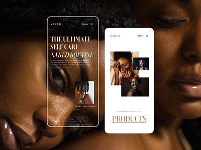 Skin care website design branding motion graphics graphic design 3d animation ui logo illustration design clean ui userinterface designthinking
