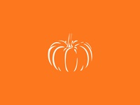 Pumpkin graphic design vector logo food illustration drawing minimal fall autumn orange halloween pumpkin