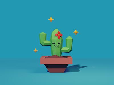 A happy cactus 3d 3dart blender cactus