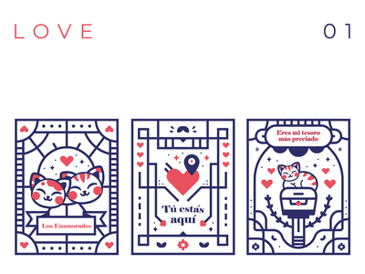 Loving you lovely tarot card tarot greeting card card cute lovers love cat