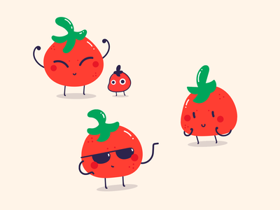 Tomatoes friends vegetable character red characters cute tomatoes tomato