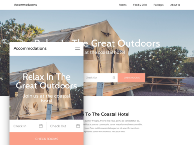 Nightly Rental Theme index mobile checkfront theme booking rental