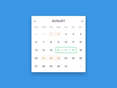 Calendar Idea simple ui idea calendar