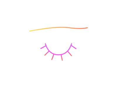 👀 👋 gradient eye drawing