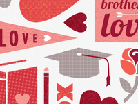 Valentine's Postcard for Temple University (freelance)