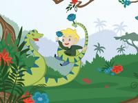 Book Illustration Progress: 'R' is for Rainforest!