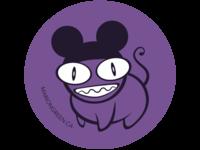 Radiohead/Mickey Sticker Design
