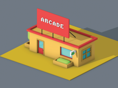Lowpoly Gaming Parlour (view-1)