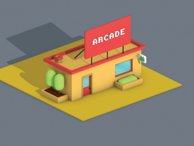 Lowpoly Gaming Parlour (view-2)