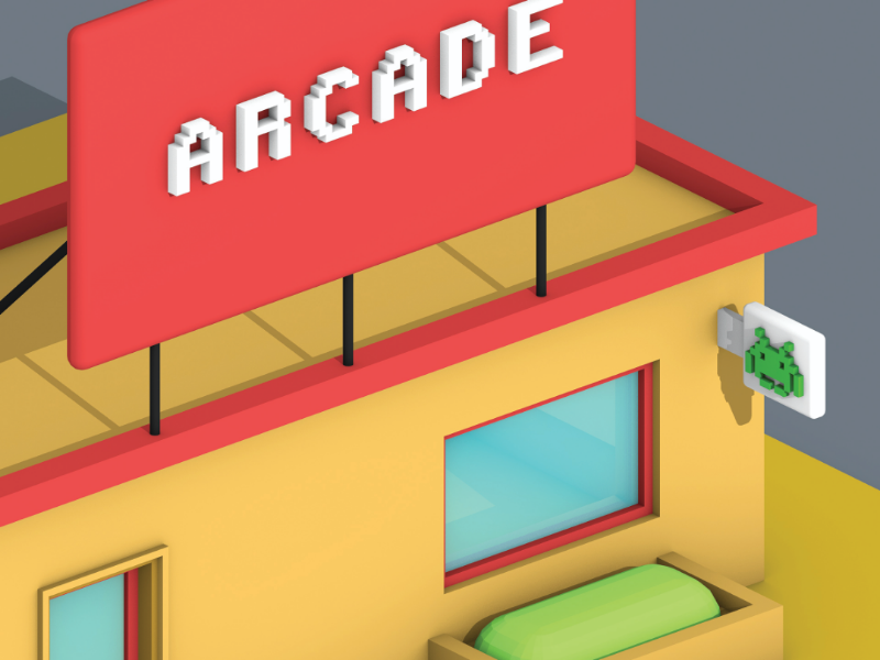 Lowpoly Gaming Parlour (view-4) top view parallel view parallel motion design lowpoly art lowpoly 3d lowpoly graphic design game design cinema 4d arcade 3d