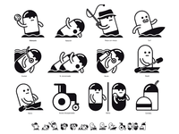 Watersports pictograms