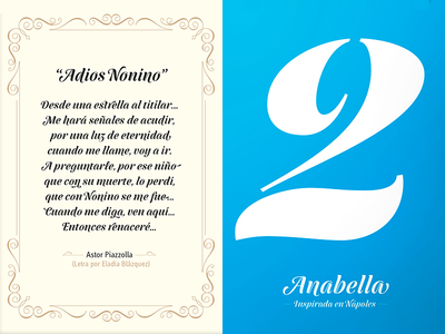 Anabella Font Display graphic design poster brush penbrush letters calligraphy display font typeface typography