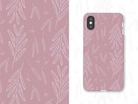 Phone case with floral pattern
