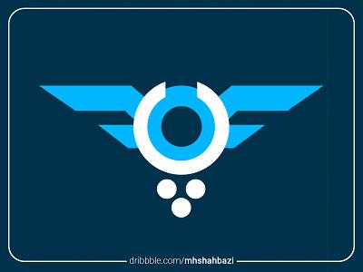 Parvaz Arg Gallery | گالری هنری پرواز wings flight logotype logodesign logo