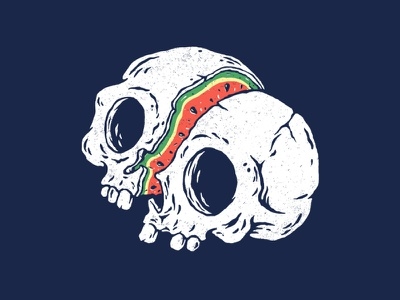 Sweet To The Bone tattoo design tattoo vintage summertime summer fruits watermelon death skull tshirt cute design cartoon funny drawing clothing t-shirt design illustration t-shirt