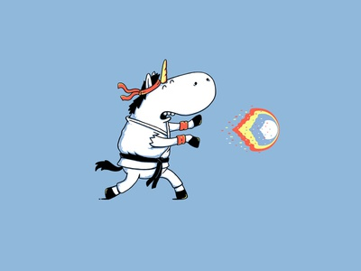 Ryunicorn fighter video games parody fun artwork animals cute clothing animal illustrator t-shirt t-shirt design illustration design drawing funny cartoon mythical horse unicorn