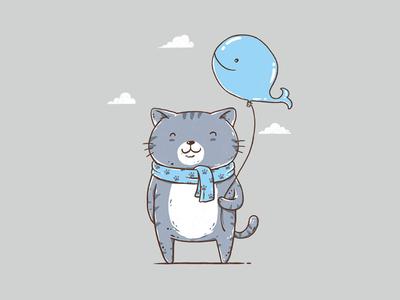 Big Fish Lover kids cute threadless fun cartoon illustrator artwork drawing clothing design funny t-shirt design t-shirt illustration animals animal cats cat whale fish