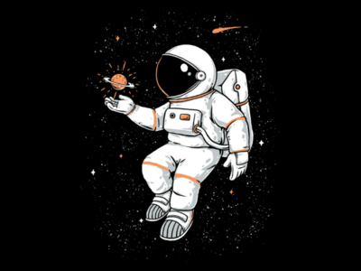 Found You t-shirt illustration merchandise cosmic planets technology sci-fi clothing t-shirt design t-shirt tshirt funny fun love astronaut space