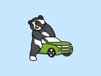 panda creative logo and ilustration
