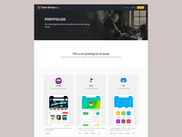 Yanagroup website Portfolio page