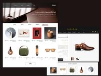 UI design of luxury shop Item