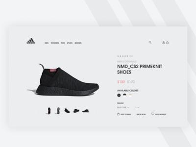 Adidas Redesign Web #1
