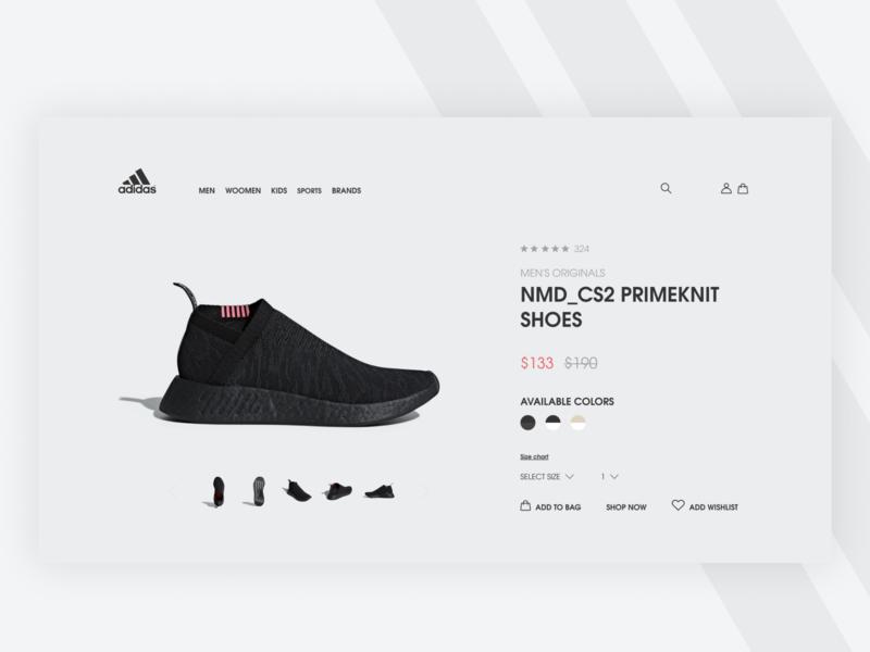 Adidas Redesign Web #1 store design shop design ux ux designer ui ui  ux design shop ecomerce web redesign adidas