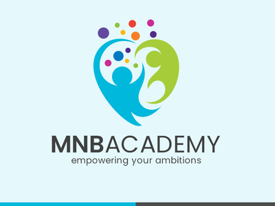 MNB Academy Logo service illustration identity students study learning academy institution education icon adobe concept vector typography art design logo