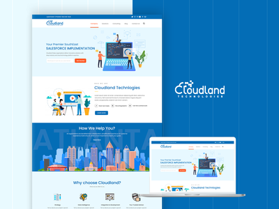 Cloudland Technologies - Design ux ui identity vector design adobe dailyui uiuxdesign software crm web solutions cloud industrial design technologies