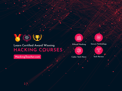 Hacking Courses Banner identity adobe vector illustration technology teaching branding promotional design courses hacking banner