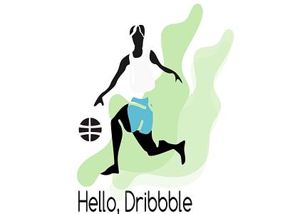 Hello Dribbble vector illustration inkscape