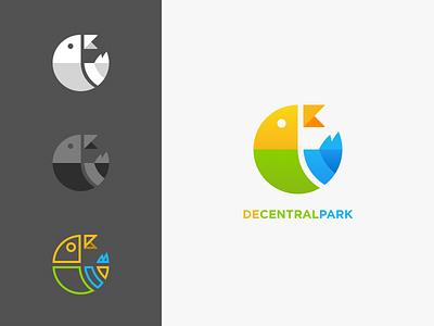 DeCentralPark crypto blockchain blue green yellow park decentralpark logo