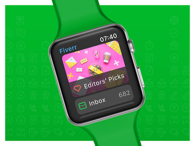 Apple Watch concept editors picks notifications inbox watch os watch apple ui app design green fiverr
