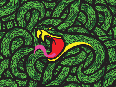 Snake Pattern 2 kvadart