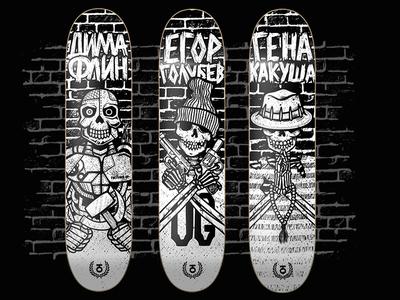 Skateboard design skateboarding graphic design characters character illustration skateboards skateboard