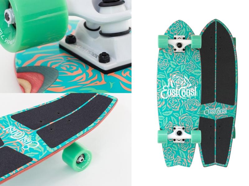 Roses pattern illustration pattern design limited colors silkscreen pattern art illustration skateboard pattern