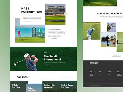 Golf Tournament booking ux landing ui homepage green game premium courses grid sport webdesign web saudi golf