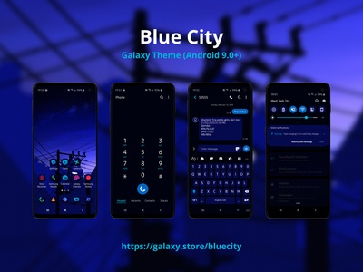 Blue City | Samsung Galaxy Theme