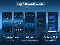 Night Blue Mountain | Samsung Theme
