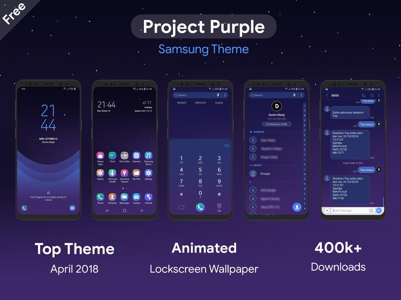 Project Purple | Samsung Theme by Durim Klaiqi on Dribbble